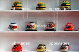 1000 F1 GP atmosphere - helmets of Ayrton Senna and Michael Schumacher. 12.04.2019. Formula 1 World Championship, Rd 3, Chinese Grand Prix, Shanghai, China, Practice Day.
