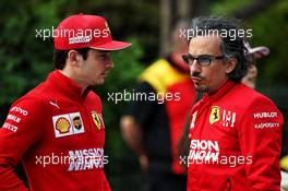 (L to R): Charles Leclerc (MON) Ferrari with Laurent Mekies (FRA) Ferrari Sporting Director. 12.04.2019. Formula 1 World Championship, Rd 3, Chinese Grand Prix, Shanghai, China, Practice Day.