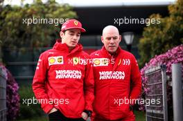 (L to R): Charles Leclerc (MON) Ferrari with Jock Clear (GBR) Ferrari Engineering Director. 11.04.2019. Formula 1 World Championship, Rd 3, Chinese Grand Prix, Shanghai, China, Preparation Day.