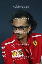 Laurent Mekies (FRA) Ferrari Sporting Director in the FIA Press Conference. 21.06.2019. Formula 1 World Championship, Rd 8, French Grand Prix, Paul Ricard, France, Practice Day.