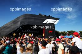 (L to R): Daniel Ricciardo (AUS) Renault F1 Team; Will Buxton (GBR) F1 Digital Presenter; Nico Hulkenberg (GER) Renault F1 Team; Cyril Abiteboul (FRA) Renault Sport F1 Managing Director; and Alain Prost (FRA) Renault F1 Team Special Advisor, on the FanZone stage. 22.06.2019. Formula 1 World Championship, Rd 8, French Grand Prix, Paul Ricard, France, Qualifying Day.