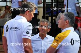 (L to R): Marcin Budkowski (POL) Renault F1 Team Executive Director with Alain Prost (FRA) Renault F1 Team Special Advisor and Nick Chester (GBR) Renault F1 Team Chassis Technical Director. 23.06.2019. Formula 1 World Championship, Rd 8, French Grand Prix, Paul Ricard, France, Race Day.