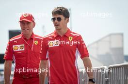 Charles Leclerc (MON) Ferrari walks the circuit with Jock Clear (GBR) Ferrari Engineering Director. 20.06.2019. Formula 1 World Championship, Rd 8, French Grand Prix, Paul Ricard, France, Preparation Day.
