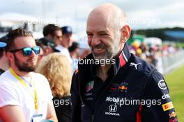 Adrian Newey (GBR) Red Bull Racing Chief Technical Officer with fans. 12.07.2019. Formula 1 World Championship, Rd 10, British Grand Prix, Silverstone, England, Practice Day.