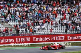 Mick Schumacher (GER) Ferrari Test Driver in the F2004 driven by his father Michael Schumacher. 27.07.2019. Formula 1 World Championship, Rd 11, German Grand Prix, Hockenheim, Germany, Qualifying Day.