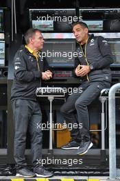 (L to R): Alan Permane (GBR) Renault F1 Team Trackside Operations Director with Cyril Abiteboul (FRA) Renault Sport F1 Managing Director. 06.09.2019. Formula 1 World Championship, Rd 14, Italian Grand Prix, Monza, Italy, Practice Day.