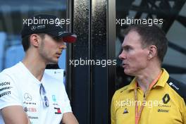 Esteban Ocon (FRA), Mercedes AMG F1 and Alan Permane (GBR), Renault Sport F1 Team Trackside Operations Director  07.09.2019. Formula 1 World Championship, Rd 14, Italian Grand Prix, Monza, Italy, Qualifying Day.