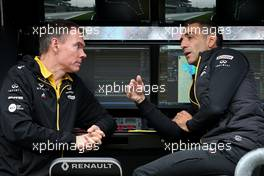 Alan Permane (GBR), Renault Sport F1 Team Trackside Operations Director and Cyril Abiteboul (FRA), Renault Sport F1 Managing Director  05.09.2019. Formula 1 World Championship, Rd 14, Italian Grand Prix, Monza, Italy, Preparation Day.