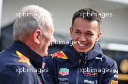(L to R): Dr Helmut Marko (AUT) Red Bull Motorsport Consultant with Alexander Albon (THA) Red Bull Racing. 27.10.2019. Formula 1 World Championship, Rd 18, Mexican Grand Prix, Mexico City, Mexico, Race Day.