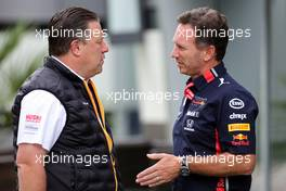 Zak Brown (USA), McLaren F1 Team Executive Director and Christian Horner (GBR), Red Bull Racing Team Principal   28.09.2019. Formula 1 World Championship, Rd 16, Russian Grand Prix, Sochi Autodrom, Sochi, Russia, Qualifying Day.