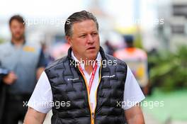 Zak Brown (USA) McLaren Executive Director. 28.09.2019. Formula 1 World Championship, Rd 16, Russian Grand Prix, Sochi Autodrom, Sochi, Russia, Qualifying Day.