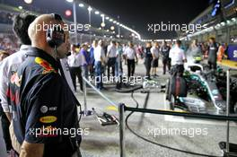 Adrian Newey (GBR) Red Bull Racing Chief Technical Officer on the grid. 22.09.2019. Formula 1 World Championship, Rd 15, Singapore Grand Prix, Marina Bay Street Circuit, Singapore, Race Day.