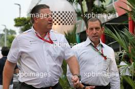 Zak Brown (USA) McLaren Executive Director. 21.09.2019. Formula 1 World Championship, Rd 15, Singapore Grand Prix, Marina Bay Street Circuit, Singapore, Qualifying Day.