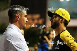 (L to R): Michael Masi (AUS) FIA Race Director with Daniel Ricciardo (AUS) Renault F1 Team. 19.09.2019. Formula 1 World Championship, Rd 15, Singapore Grand Prix, Marina Bay Street Circuit, Singapore, Preparation Day.