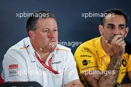 Zak Brown (USA) McLaren Executive Director in the FIA Press Conference.                                29.11.2019. Formula 1 World Championship, Rd 21, Abu Dhabi Grand Prix, Yas Marina Circuit, Abu Dhabi, Practice Day.