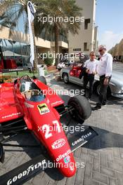 Alain Prost (FRA) Renault F1 Team Special Advisor and Jerome Stoll (FRA) Renault Sport F1 President with the 1982 Ferrari 126C2 driven by Patrick Tambay on display in the paddock - Sotherby's.  30.11.2019. Formula 1 World Championship, Rd 21, Abu Dhabi Grand Prix, Yas Marina Circuit, Abu Dhabi, Qualifying Day.