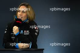 Claire Williams (GBR) Williams Racing Deputy Team Principal in the FIA Press Conference. 01.11.2019. Formula 1 World Championship, Rd 19, United States Grand Prix, Austin, Texas, USA, Practice Day.