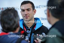 Nicholas Latifi (CDN) Williams Racing Test and Development Driver with the media. 01.11.2019. Formula 1 World Championship, Rd 19, United States Grand Prix, Austin, Texas, USA, Practice Day.