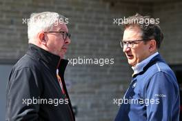 (L to R): Ross Brawn (GBR) Managing Director, Motor Sports with Nicholas Tombazis (GRE) FIA Head of Single-Seater Technical Matters. 02.11.2019. Formula 1 World Championship, Rd 19, United States Grand Prix, Austin, Texas, USA, Qualifying Day.