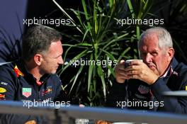 (L to R): Christian Horner (GBR) Red Bull Racing Team Principal with Dr Helmut Marko (AUT) Red Bull Motorsport Consultant. 03.11.2019. Formula 1 World Championship, Rd 19, United States Grand Prix, Austin, Texas, USA, Race Day.