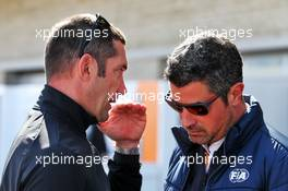 (L to R): Max Papis (ITA) Racing Driver with Michael Masi (AUS) FIA Race Director. 03.11.2019. Formula 1 World Championship, Rd 19, United States Grand Prix, Austin, Texas, USA, Race Day.