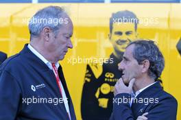 (L to R): Jerome Stoll (FRA) Renault Sport F1 President with Alain Prost (FRA) Renault F1 Team Special Advisor. 03.11.2019. Formula 1 World Championship, Rd 19, United States Grand Prix, Austin, Texas, USA, Race Day.