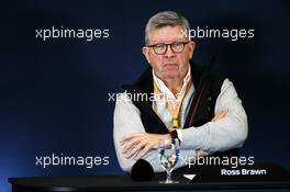 Ross Brawn (GBR) Managing Director, Motor Sports at a 2021 Regulations Press Conference. 31.10.2019. Formula 1 World Championship, Rd 19, United States Grand Prix, Austin, Texas, USA, Preparation Day.