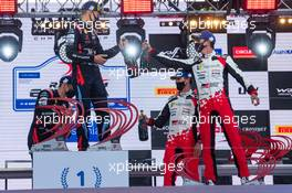 Ott Tanak (EST) / Martin Jarveoja (EST) Hyundai i20 Coupe WRC Hyundai Shell Mobis WRT, winners; Craig Breen (IRL) / Paul Nagle (GBR) Hyundai i20 Coupe WRC Hyundai Shell Mobis WRT, second; Sebastien Ogier (FRA) / Julien Ingrassia (FRA) Toyota Yaris WRC Toyota Gazoo Racing WRT, third. 04-06.09.2020. FIA World Rally Championship Rd 4, Rally Estonia, Tartu, Estonia.