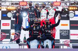 Ott Tanak (EST) / Martin Jarveoja (EST) Hyundai i20 Coupe WRC Hyundai Shell Mobis WRT, winners; Craig Breen (IRL) / Paul Nagle (GBR) Hyundai i20 Coupe WRC Hyundai Shell Mobis WRT, second; Sebastien Ogier (FRA) / Julien Ingrassia (FRA) Toyota Yaris WRC Toyota Gazoo Racing WRT, third.