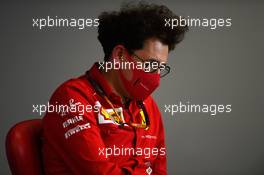 Mattia Binotto (ITA) Ferrari Team Principal in the FIA Press Conference. 07.08.2020. Formula 1 World Championship, Rd 5, 70th Anniversary Grand Prix, Silverstone, England, Practice Day.