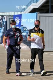 (L to R): Andy Stevenson (GBR) Racing Point F1 Team Manager with Alan Permane (GBR) Renault F1 Team Trackside Operations Director. 07.08.2020. Formula 1 World Championship, Rd 5, 70th Anniversary Grand Prix, Silverstone, England, Practice Day.