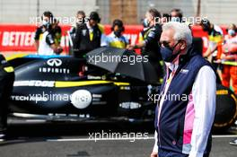 Lawrence Stroll (CDN) Racing Point F1 Team Investor on the grid. 09.08.2020. Formula 1 World Championship, Rd 5, 70th Anniversary Grand Prix, Silverstone, England, Race Day.