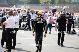 Esteban Ocon (FRA) Renault F1 Team on the grid. 09.08.2020. Formula 1 World Championship, Rd 5, 70th Anniversary Grand Prix, Silverstone, England, Race Day.