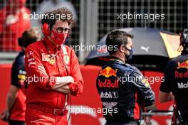 Mattia Binotto (ITA) Ferrari Team Principal on the grid.                                09.08.2020. Formula 1 World Championship, Rd 5, 70th Anniversary Grand Prix, Silverstone, England, Race Day.