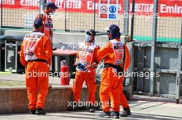 Circuit atmosphere - marshals. 08.08.2020. Formula 1 World Championship, Rd 5, 70th Anniversary Grand Prix, Silverstone, England, Qualifying Day.