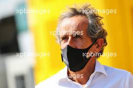 Alain Prost (FRA) Renault F1 Team Non-Executive Director. 08.08.2020. Formula 1 World Championship, Rd 5, 70th Anniversary Grand Prix, Silverstone, England, Qualifying Day.
