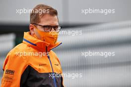 Andreas Seidl, McLaren Managing Director. 06.08.2020. Formula 1 World Championship, Rd 5, 70th Anniversary Grand Prix, Silverstone, England, Preparation Day.