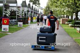 Red Bull Racing suitcases pulled along the paddock. 13.03.2020. Formula 1 World Championship, Rd 1, Australian Grand Prix, Albert Park, Melbourne, Australia, Practice Day.