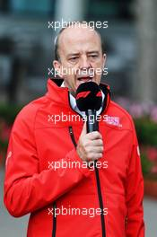 Andrew Wesatcott (AUS) Australian Grand Prix Corporation Chief Executive Officer at an outdoor press conference following the cancellation of the Australian Grand Prix. 13.03.2020. Formula 1 World Championship, Rd 1, Australian Grand Prix, Albert Park, Melbourne, Australia, Practice Day.