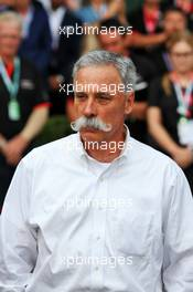 Chase Carey (USA) Formula One Group Chairman, at an outdoor press conference following the cancellation of the Australian Grand Prix. 13.03.2020. Formula 1 World Championship, Rd 1, Australian Grand Prix, Albert Park, Melbourne, Australia, Practice Day.
