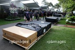 Teams arrive in the paddock as curfew ends. 13.03.2020. Formula 1 World Championship, Rd 1, Australian Grand Prix, Albert Park, Melbourne, Australia, Practice Day.