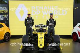 (L to R): Esteban Ocon (FRA) Renault F1 Team and Daniel Ricciardo (AUS) Renault F1 Team - livery reveal. Australian Grand Prix, Wednesday 11th March 2020. Albert Park, Melbourne, Australia. 11.03.2020. Formula 1 World Championship, Rd 1, Australian Grand Prix, Albert Park, Melbourne, Australia, Preparation Day.