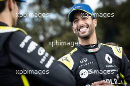 (L to R): Esteban Ocon (FRA) Renault F1 Team with Daniel Ricciardo (AUS) Renault F1 Team - livery reveal. 11.03.2020. Formula 1 World Championship, Rd 1, Australian Grand Prix, Albert Park, Melbourne, Australia, Preparation Day.