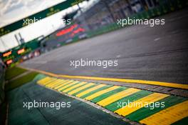 Circuit atmosphere - kerb detail. 11.03.2020. Formula 1 World Championship, Rd 1, Australian Grand Prix, Albert Park, Melbourne, Australia, Preparation Day.
