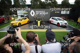 (L to R): Esteban Ocon (FRA) Renault F1 Team and Daniel Ricciardo (AUS) Renault F1 Team - livery reveal. 11.03.2020. Formula 1 World Championship, Rd 1, Australian Grand Prix, Albert Park, Melbourne, Australia, Preparation Day.