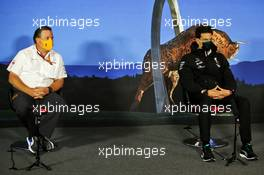 (L to R): Zak Brown (USA) McLaren Executive Director and Toto Wolff (GER) Mercedes AMG F1 Shareholder and Executive Director in the FIA Press Conference. 03.07.2020. Formula 1 World Championship, Rd 1, Austrian Grand Prix, Spielberg, Austria, Practice Day.
