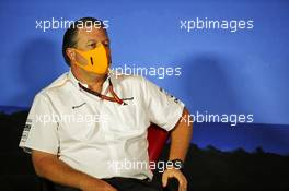 Zak Brown (USA) McLaren Executive Director in the FIA Press Conference. 03.07.2020. Formula 1 World Championship, Rd 1, Austrian Grand Prix, Spielberg, Austria, Practice Day.