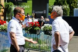 Andreas Seidl, McLaren Managing Director (Left). 05.07.2020. Formula 1 World Championship, Rd 1, Austrian Grand Prix, Spielberg, Austria, Race Day.