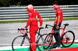 Charles Leclerc (MON) Ferrari rides the circuit with Jock Clear (GBR) Ferrari Engineering Director. 02.07.2020. Formula 1 World Championship, Rd 1, Austrian Grand Prix, Spielberg, Austria, Preparation Day.