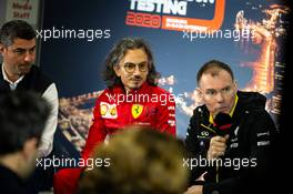 (L to R): Michael Masi (AUS) FIA Race Director; Laurent Mekies (FRA) Ferrari Sporting Director; and Alan Permane (GBR) Renault F1 Team Trackside Operations Director, in the FIA Press Conference. 21.02.2020. Formula One Testing, Day Three, Barcelona, Spain. Friday.